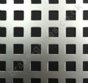Chartham 8mm Square Hole Grille Silver Anodised Aluminium Sheet 2000mm x 1000mm x 1mm
